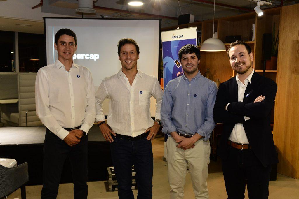 Equipo fundador Uppercap (izq a der David Avila, Eduardo Perez de Castro, Rafael Meruane y Martín Jofré)